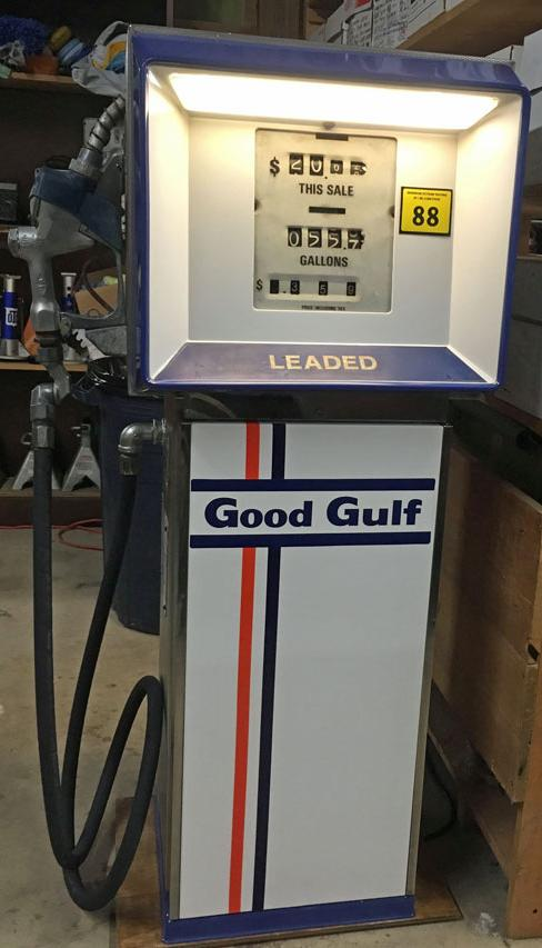 "12/"" GULF NO-NOX GASOLINE GAS PUMP OIL TANK SIGN DECAL GULF-2"